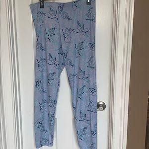Disney Olaf Pants Leggings XL NWOT
